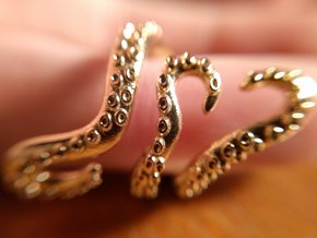 Tentacle Ring in Natural Brass: 5 / 49