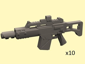 28mm LG36c laser carbine in Frosted Extreme Detail