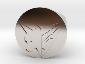 1/1 Sugo Ring 15 mm Diameter  in Rhodium Plated Brass