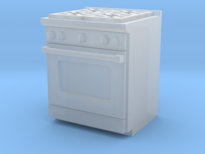 1:48 Kitchen Stove(Range) and Oven in Smooth Fine Detail Plastic