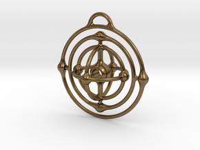 Atom Pendant in Natural Bronze (Interlocking Parts)