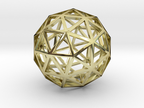 Geodesic Sphere Necklace in 18k Gold Plated Brass