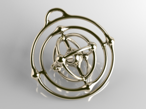 Atom Pendant in Polished Brass (Interlocking Parts)