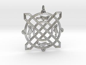 Croatian interlace pendant (+5 leadership) in Natural Silver