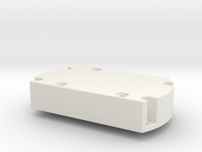 Servo Motor Mount in White Natural Versatile Plastic