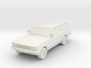 1-87 Ford Cortina Mk5 Estate Hollow Wheels Attache in White Natural Versatile Plastic