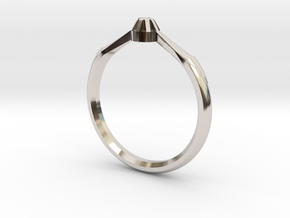 Emma's Lost Ring in Rhodium Plated Brass