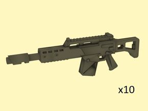 28mm LG36 laser rifle in Smoothest Fine Detail Plastic