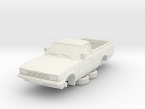 1-87 Ford Cortina Mk5 P100 Hollow (repaired) in White Natural Versatile Plastic