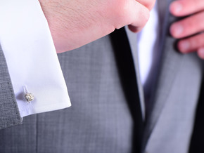 Little Dragon, Cufflinks. Pure, Strong. in Polished Silver