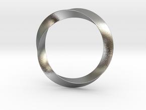 Mobius in Interlocking Raw Silver