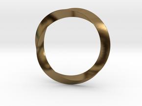 Mobius in Polished Bronze (Interlocking Parts)