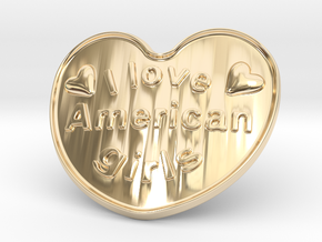 I Love American Girls in 14K Yellow Gold