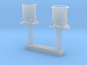 HO Scale Smoke Stack in Smooth Fine Detail Plastic