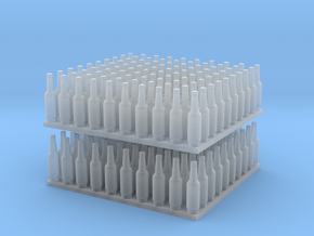 1:64 Ver1 Beer Bottles 200ea in Smooth Fine Detail Plastic