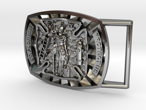 St. Florian Buckle in Polished Silver