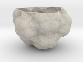 Fractal Flower Pot III in Natural Sandstone