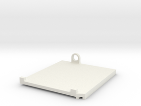 Rampage Front Right Water Shield in White Natural Versatile Plastic