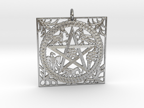 Croatian interlace pendant (+8 intelligence) in Natural Silver