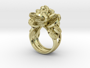 Greedy Money Toad Ring: JinChan in 18k Gold Plated: 9 / 59