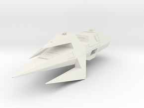 Wing Commander Kilrathi Ralarrd-Class Light Destro in White Strong & Flexible