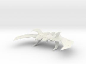 Wing Commander Kilrathi Vaktoth Heavy Fighter in White Natural Versatile Plastic