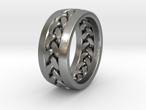 Braid Ring in Natural Silver: 3 / 44