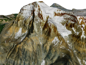 "Mount Robson Map: 6"" in Full Color Sandstone"