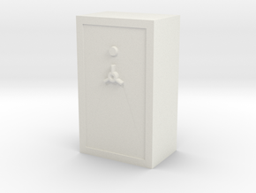 1/64 Gun Safe in White Natural Versatile Plastic
