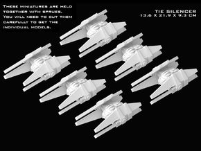 (Armada) 6x TIE Silencer in Smooth Fine Detail Plastic