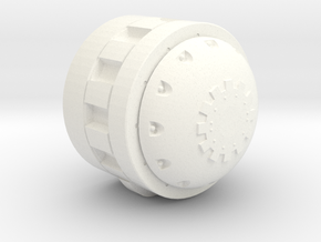 Martian Sand Crawler Neutrino Beam Adapter in White Processed Versatile Plastic
