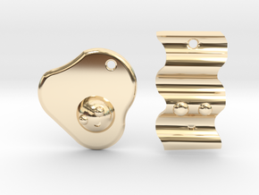Bacon & Egg Earrings/Friendship Charms in 14k Gold Plated Brass