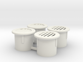 Column vents, slatted in White Strong & Flexible