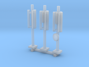 N Scale 3x GSM Rooftop Antenna in Smooth Fine Detail Plastic
