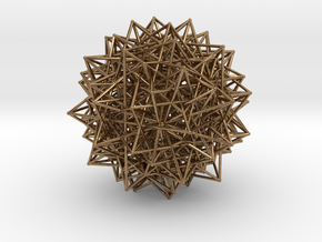 Compound of Fifteen 16-Cells in Natural Brass