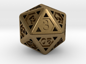 Icosahedron D20 in Natural Bronze