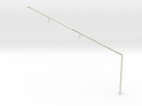 MOF Stair Railing#1 in White Natural Versatile Plastic