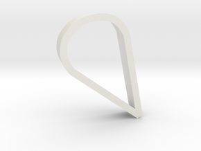 Petal/Tear Drop Cookie Cutter in White Strong & Flexible