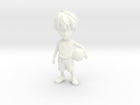 1/24 Customize-able Sports Player Male in White Processed Versatile Plastic