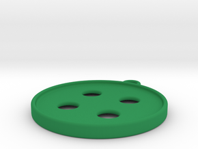 Button Earrings in Green Processed Versatile Plastic