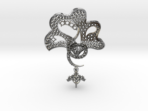 Pendant with three parts PS001000010 in Polished Silver