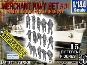 1/144 Merchant Navy Set 501 in Smooth Fine Detail Plastic
