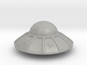 flying saucer (3cm) in Aluminum: Extra Small