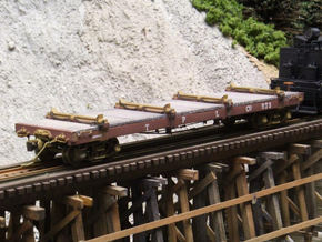 HO Scale - TPLCo Log Car in Smooth Fine Detail Plastic