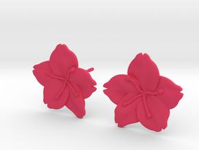 Sakura Stud Earrings in Pink Processed Versatile Plastic