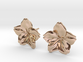 Sakura Stud Earrings in 14k Rose Gold Plated Brass
