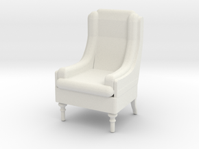 Tall Armchair 1:50 in White Natural Versatile Plastic