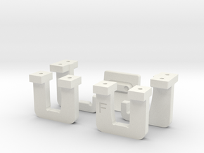 Hololens Mount Fasteners in White Natural Versatile Plastic