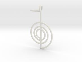 Reiki Power Symbolic jewelry Pendant Choku-Rei in White Natural Versatile Plastic