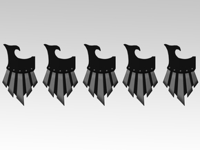 Raven Veteran Right Storm Shields X5 in Smooth Fine Detail Plastic